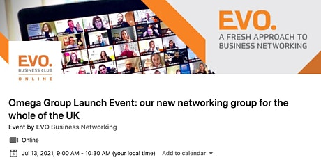 EVO Omega - Launch Event of our 1st nationwide networking group tickets