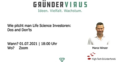 Wie pitcht man Life Science Investoren: Dos and Don'ts