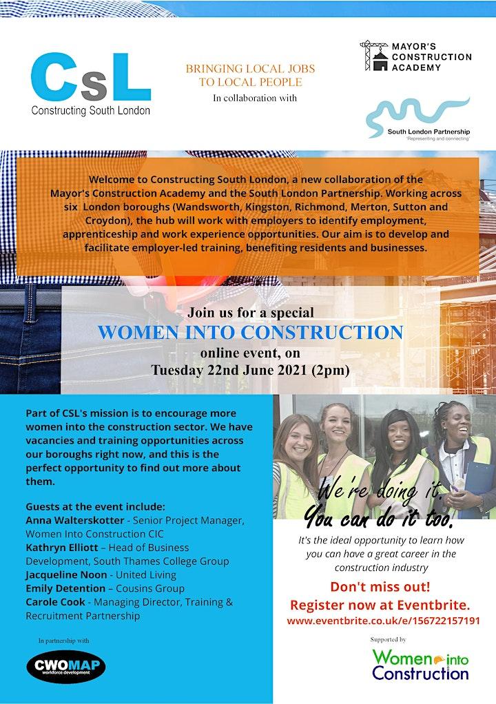 Constructing South London, MCA Hub -  Women in Construction image