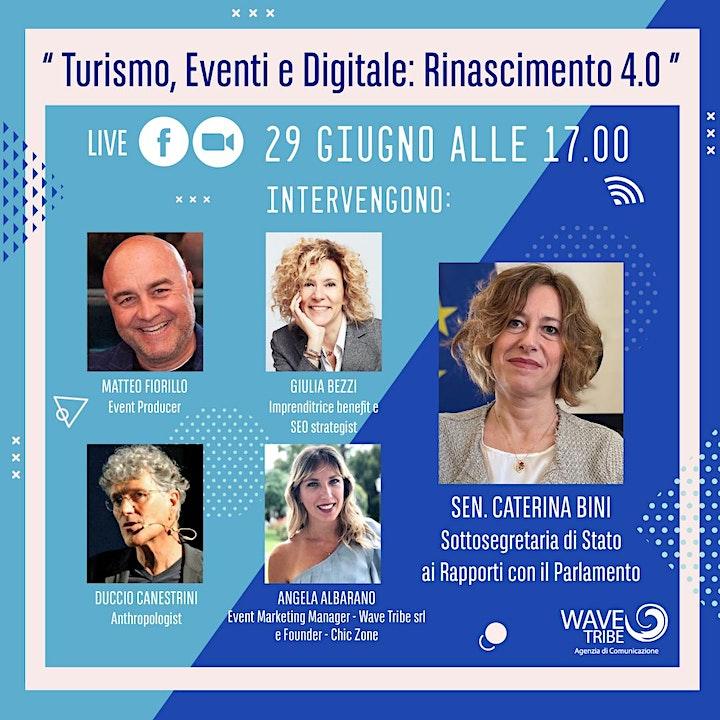 Turismo, Eventi e Digitale: Rinascimento 4.0 image