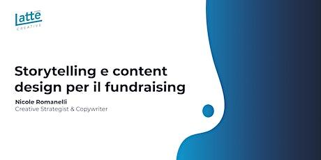 Storytelling e design dei contenuti per il fundraising biglietti