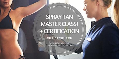 Spray Tanning Master Class tickets