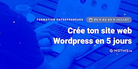 [FORMATION] Crée ton site en 5 jours sur Wordpress (juillet) biglietti