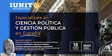 Especialízate en Ciencia Política y Gestión Pública entradas