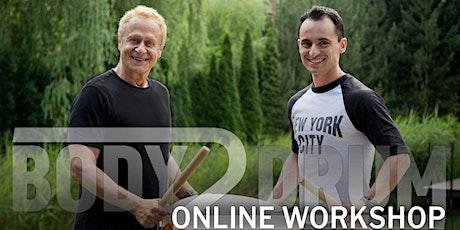 Body2Drum - Online Workshop mit Reinhard Flatischler und Tupac Mantilla Tickets