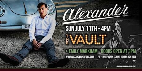 Alexander at 'The Vault' tickets