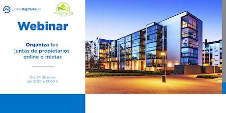 Organiza tus juntas online o mixtas - Multienergía Verde & JuntasDigitales boletos