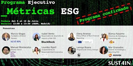 Programa Ejecutivo - Métricas ESG entradas
