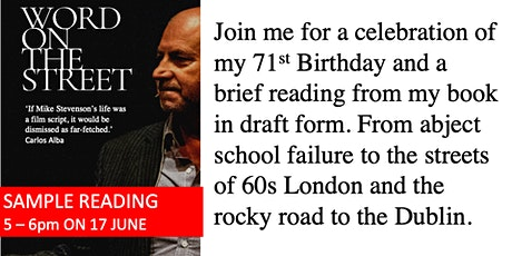 Mike Stevenson's Word on the Street:  Birthday Celebration and  Reading tickets