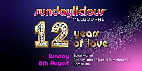 Sundaylicious  -12 years of love celebration- August 8 - Spice Market tickets