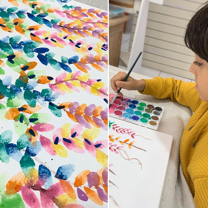 Watercolour Vines for kids image