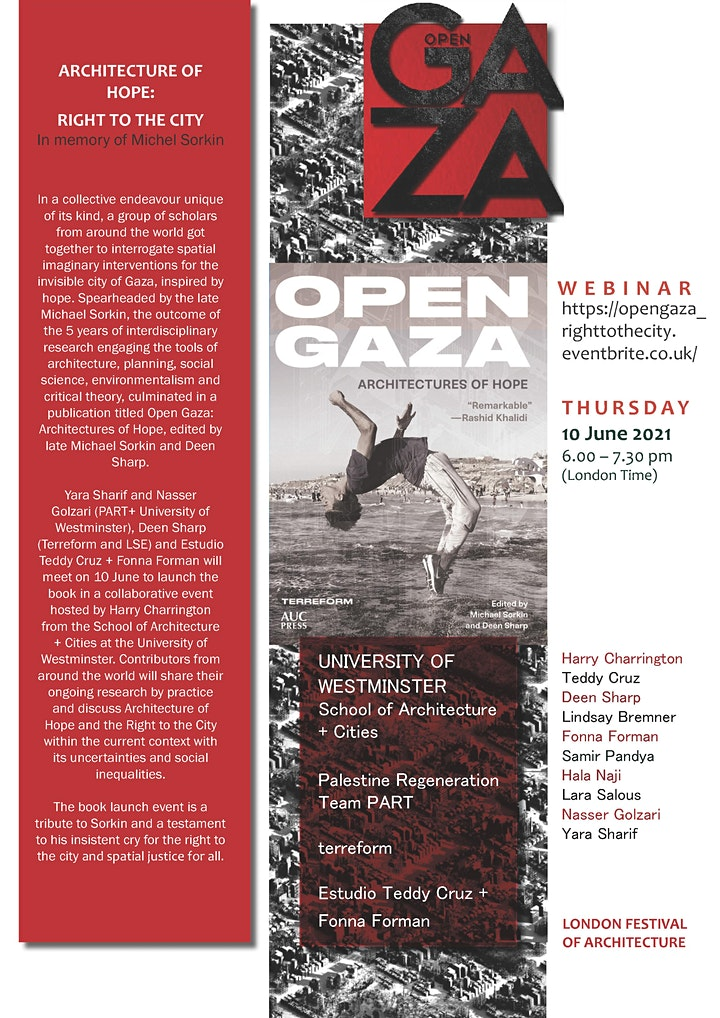 Open Gaza:  Architectures of Hope  (in memory of Michael Sorkin) image