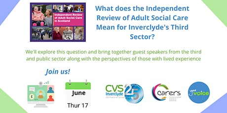 The Adult Social Care Review and Inverclyde's Third Sector tickets