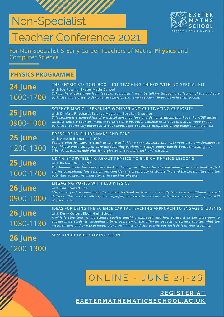 Non-Specialist & Early Career Teacher Conference 2021 image