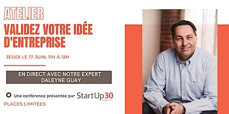 Workshop : Venez valider votre idée de StartUp billets
