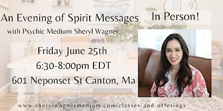 Evening of Spirit Messages tickets