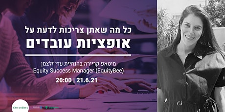 Intro to stock options   EquityBee and she codes;   21.6.21  20:00 tickets