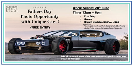 FREE ENTRY: FATHERS DAY OUT! See some of the most amazing cars in Wynwood! tickets