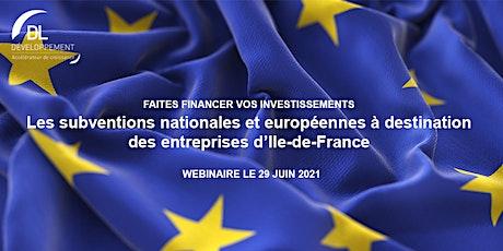 Les subventions nationales et européennes à destination des entreprises tickets