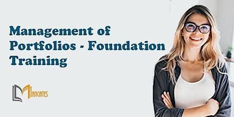 Management of Portfolios - Foundation Virtual Training in Monterrey tickets