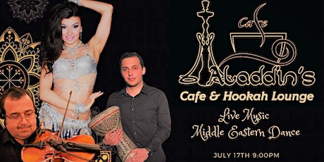 Live Music & Belly Dance at Aladdins Cafe tickets
