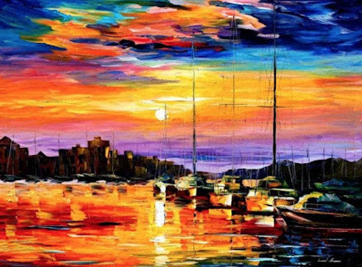 Paint SUNSET HARBOUR - Facebook LIVE image
