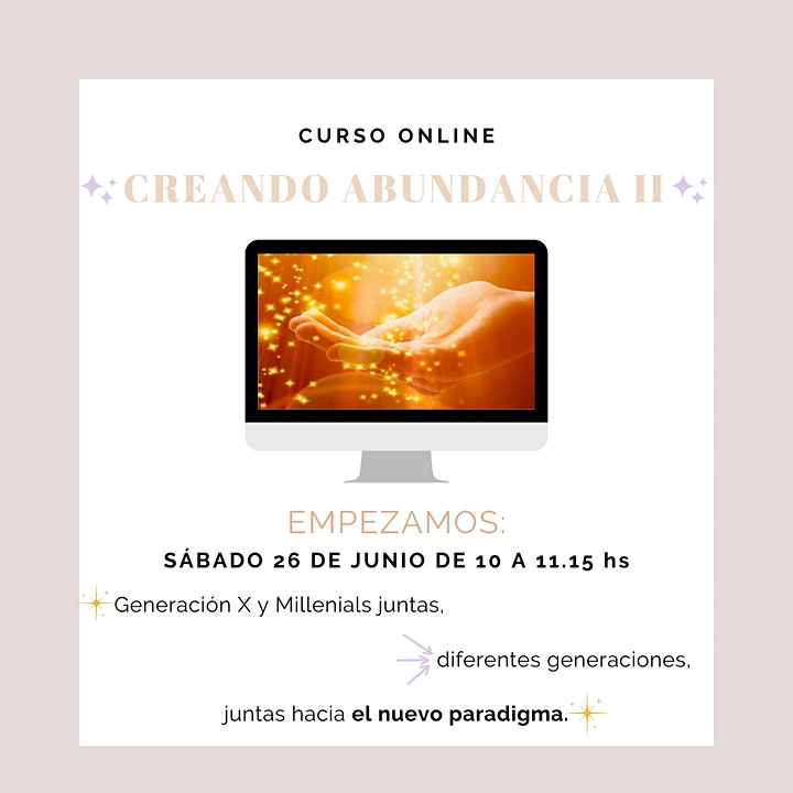 Imagen de CURSO CREANDO ABUNDANCIA 10% OFF