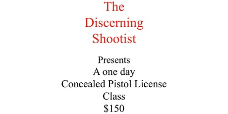 Concealed Pistol License Class tickets