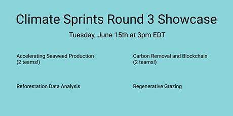 Climate Sprints Cohort 3 Showcase! tickets