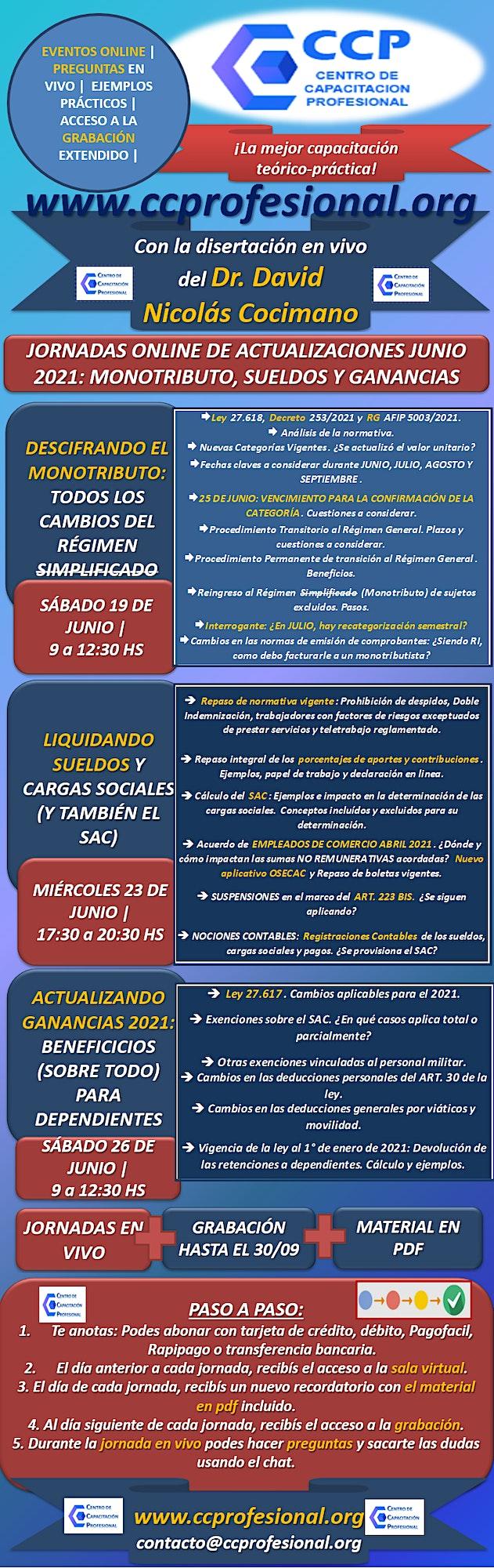 Imagen de CICLO DE ACTUALIZACIONES: MONOTRIBUTO, SUELDOS Y GANANCIAS (IOL)