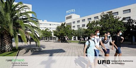 Sessió informativa PRESENCIAL: Graus en Turisme i Direcció Hotelera UAB entradas