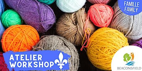 Fête Nationale: Atelier tricot avec les doigts / Finger knitting tickets