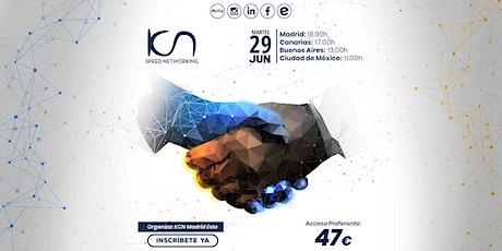 KCN Madrid Este Speed Networking Online 29 Jun entradas