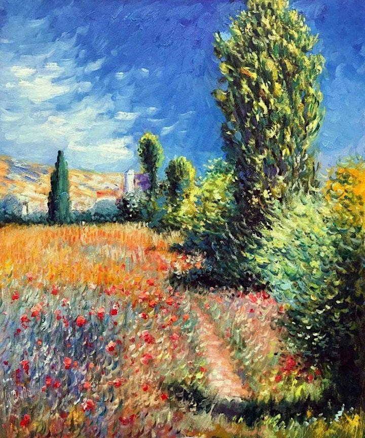 Paint MONET - 'Landscape on the Ile Saint Martin'  - ZOOM Class image