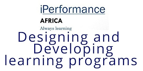 Designing and developing learning programs Tickets