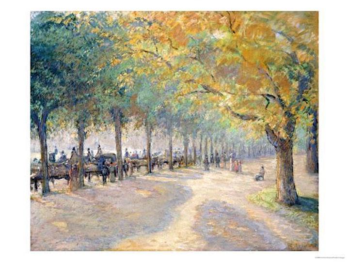 Paint PISSARRO - 'Hyde Park London'- ZOOM Class image