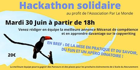 Hackathon solidaire de recrutement billets