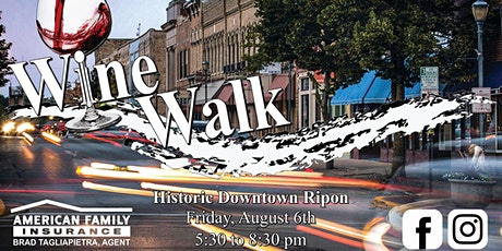 Downtown Ripon Summer WineWalk tickets
