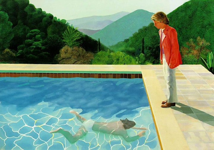 Paint HOCKNEY - Pool with Two Figures - ZOOM Class image