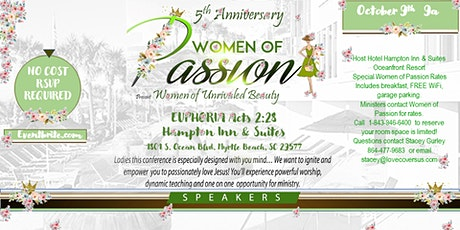 5th Anniversary Women of Passion Conference Euphoria! tickets
