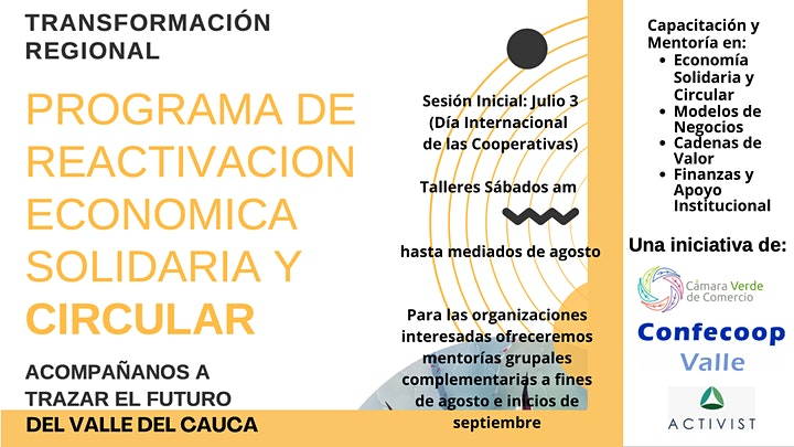 Imagen de Reactivación Económica Solidaria y Circular en el Valle - CONFECOOP Valle