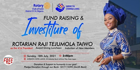 Rotary Club of Isolo 41st Investiture Ceremony. tickets