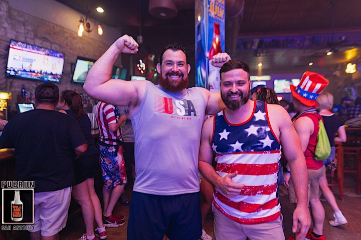1st Friday July Pub Run: Red White and Brews image