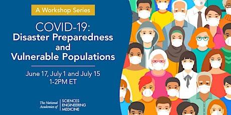 COVID-19: Disaster Preparedness and Vulnerable Populations: Webinar Series entradas