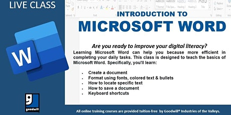 Introduction to Microsoft Word tickets