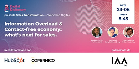 Sales Transformation | Information Overload & Contact-free economy tickets