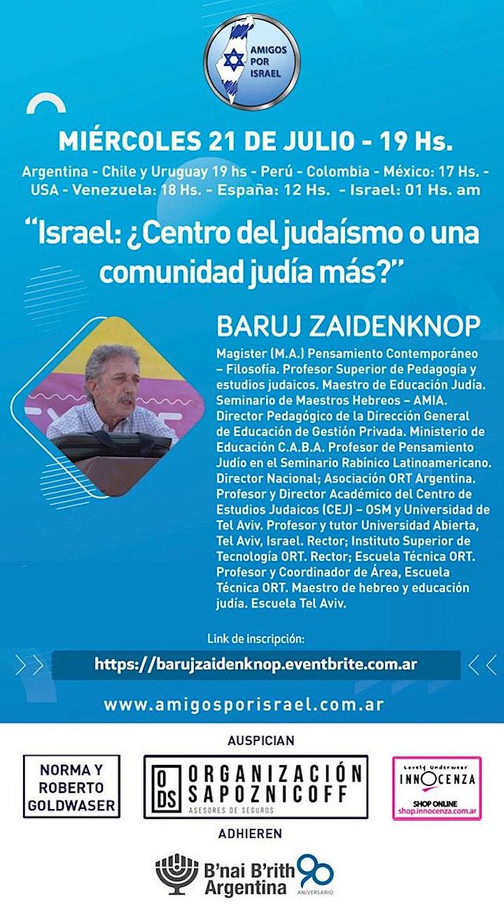 Imagen de ISRAEL: ¿Centro del judaísmo o una comunidad judía más?. BARUJ ZAINDENKNOP