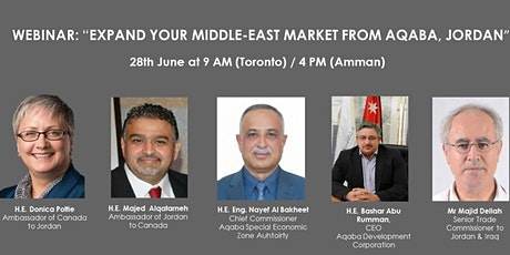 Webinar: Expand your Middle-East market from Aqaba, Jordan tickets