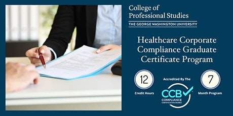 Healthcare Corporate Compliance Certificate Program Info Session via Webex tickets