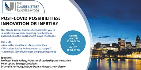 Post-Covid Possibilities:Innovation or Inertia? tickets
